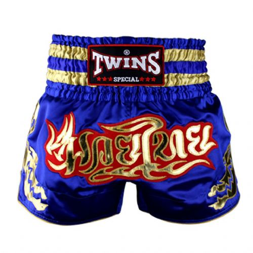 Twins TWS-152 Blue/Gold Muay Thai Shorts